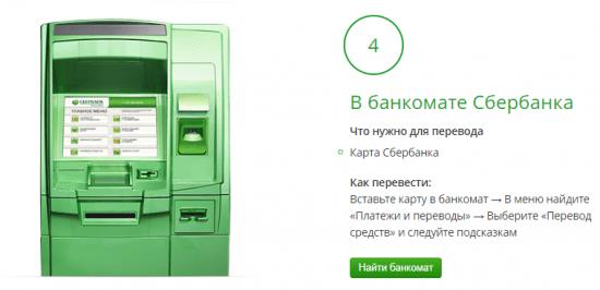 Комиссия Сбербанка в банкомате