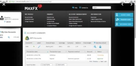 MaxFx и myfxbook