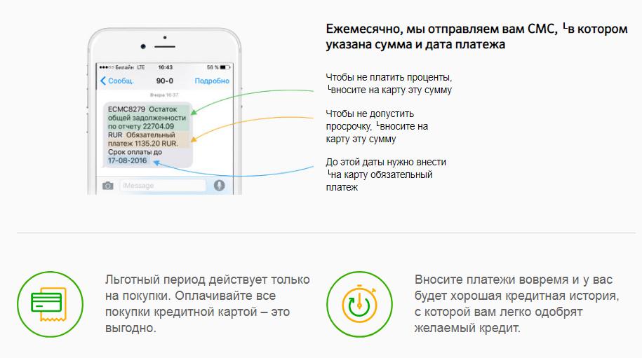 СМС информирование от Сбербанка
