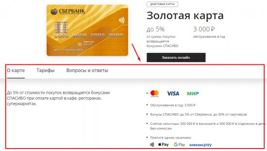 Долларовая Золотая карта Сбербанка